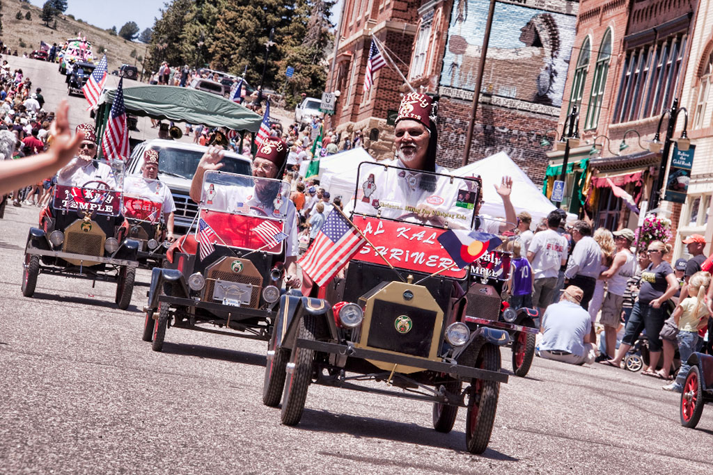 Al Kady Cars in Cripple Creek Parade