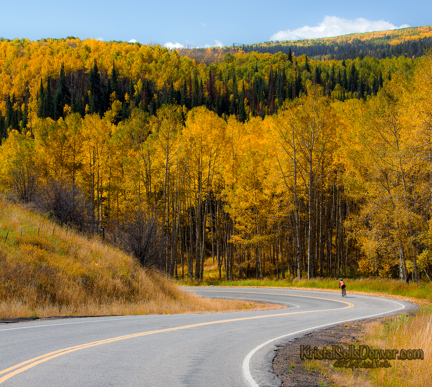 Cycling in the Colorado Fall Season