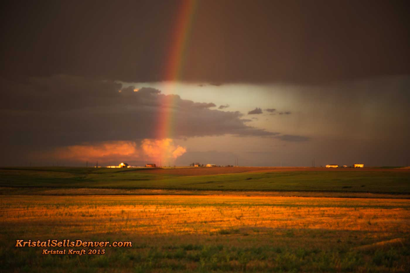 rainbow on the Colorado plains