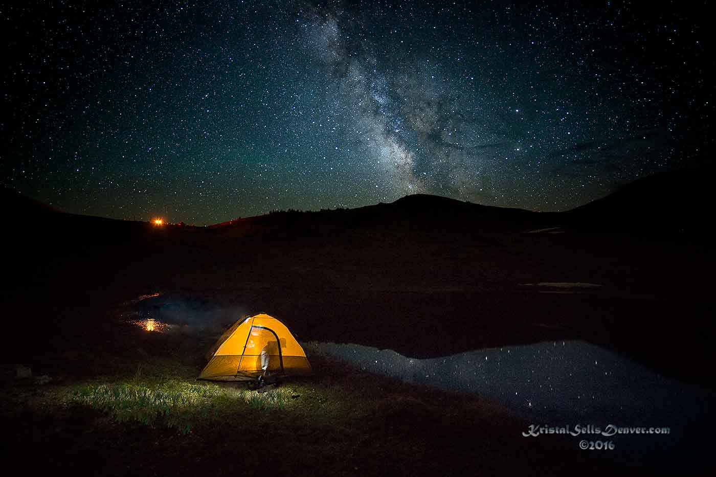 tent camping under the Milky Way in Colorado